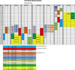Belegungsplan Sportplatz - 2018_2019